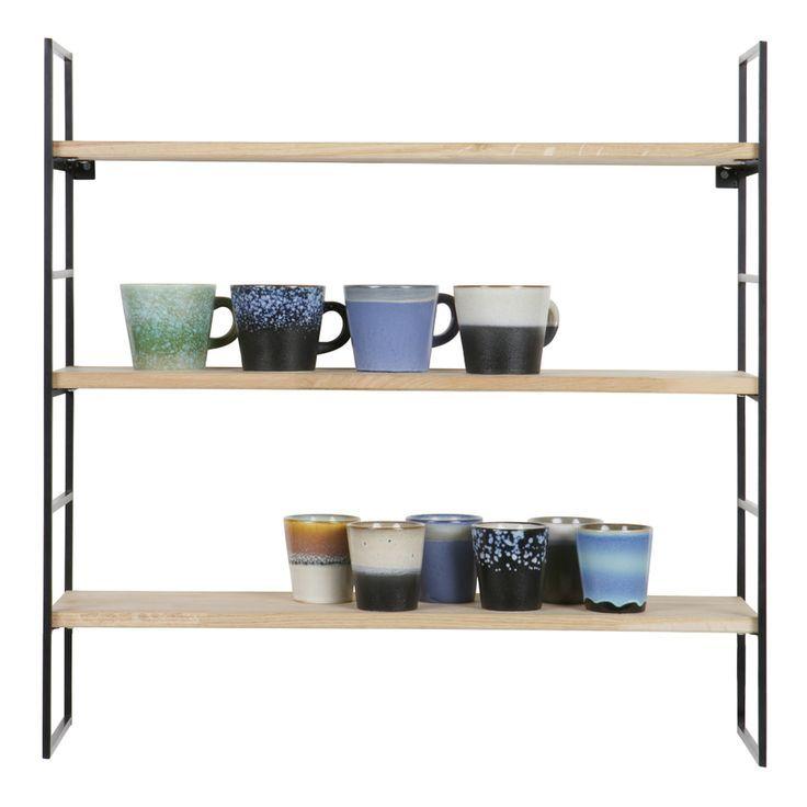 Woood Hanging Wall Shelf 39 Meert 39 With 3 Shelves Color Black Black Color Hanging Meert S Regal Metall Regal Metall Schwarz Wandregal Metall