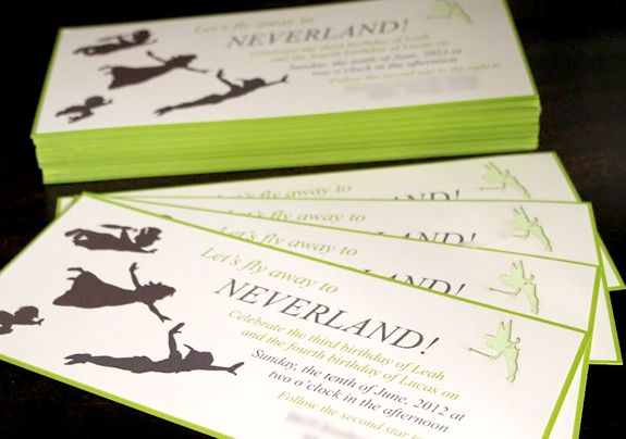INVITE ~ Peter Pan Neverland Mermaid Party Ideas from TwoGirlsAndACardShoppe.com as seen on AmysPartyIdeas.com