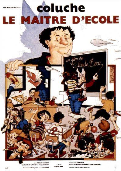 Le Maitre d'école avec Coluche...