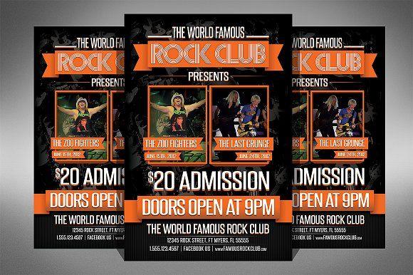 Rock Club Flyer by Creativenauts on @creativemarket