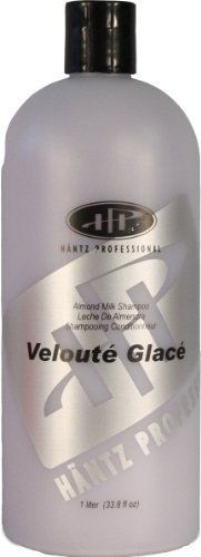 Hantz Professional Veloute Glace Shampoo Liter by Hantz Professional Hair Care Products. $25.00. Also formulated with Vitamin E and Panthenol. Contains a blend of lactic protein, esters of almond oil and sea kelp. Recommended for fragile, dry, permed or color treated hair. A luxurious shampoo gentle enough to use as a bath wash. Soothing natural almond fragrance accents healthy and shiny hair. Hantz Professional Veloute Glace Shampoo is recommended for fragile, d...