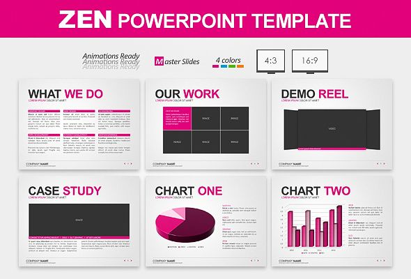 Clean Powerpoint template WORK Online Business, Design - powerpoint proposal template