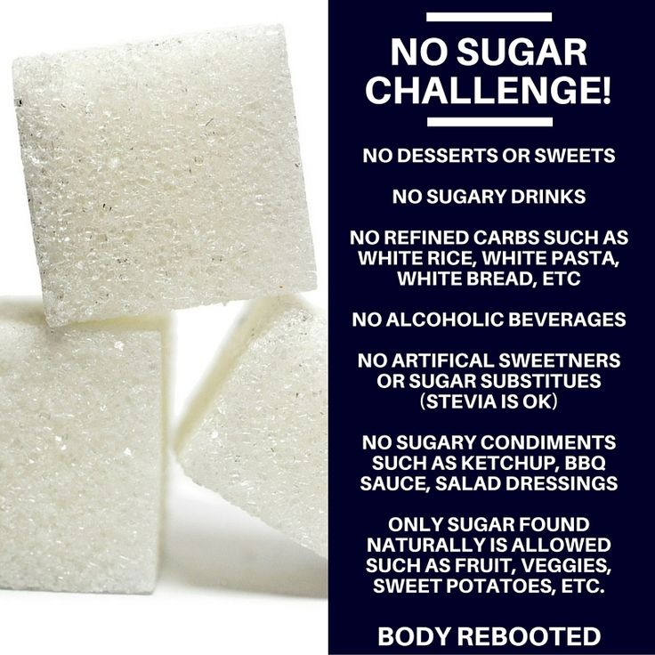 No Sugar Challenge!! Who's with me? | Body Rebooted | Sugar detox diet, No sugar diet, No sugar ...