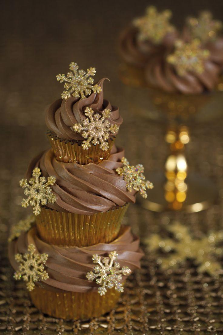 Christmas Snowflakes cupcakes