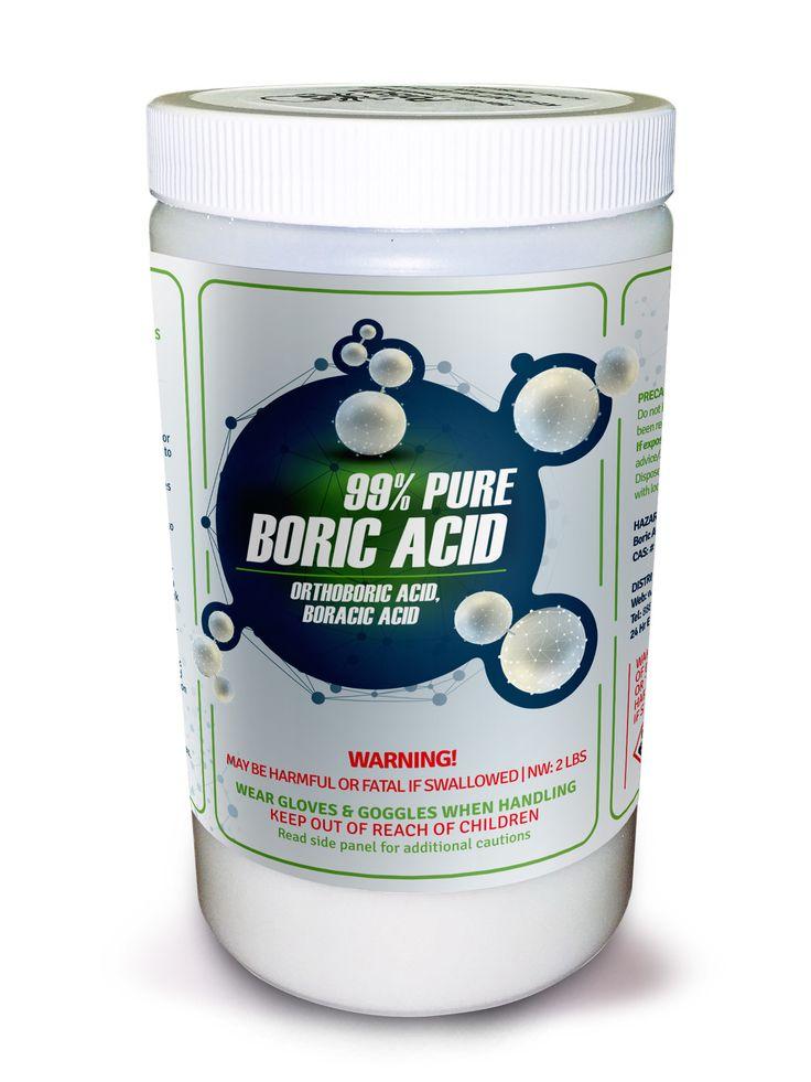 99% PURE BORIC ACID AKA Orthoboric Acid, Boracic Acid