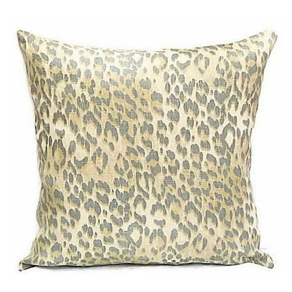 Linen leopard throw pillow shams 20x20 pillow cover Rustic animal... ($43) ❤ liked on Polyvore featuring home, bed & bath, bedding, bed sheets, leopard bedding, linen pillow cases, linen pillowcases, schumacher and cheetah bedding