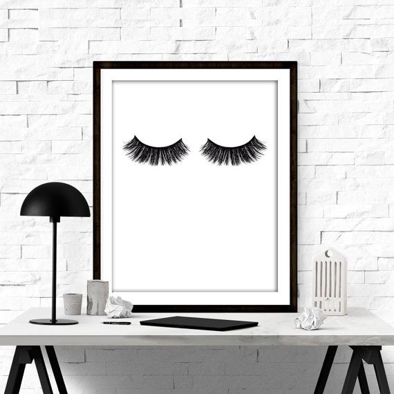 Fashion Poster - Makeup Print - Makeup Art - Makeup Studio Wall Art - Room Decor - Lashes Print - Eyelashes Poster - Printable Fashion  ••WHAT YOU WILL GET•• ▶Five High resolution (300DPI) JPEG files ▶Sizes: 4X6, 5X7, 8X10, 11X14 and 16x20 ▶Instant download your files directly from etsy, or from the download link that is sent via email. ▶The colors may vary depending on your screen and the printer.   PLEASE NOTE, THIS IS A DIGITAL DOWNLOAD ONLY. NO PRINTED MATERIALS OR FRAME ARE INCLUDED…