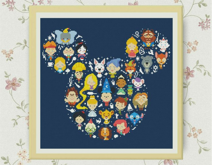 Bogo Free ,Disney-miki cross stitch pattern , PDF counted cross stitch pattern , Counted Cross Stitch Pattern, S095 by LittleCrossStitch on Etsy