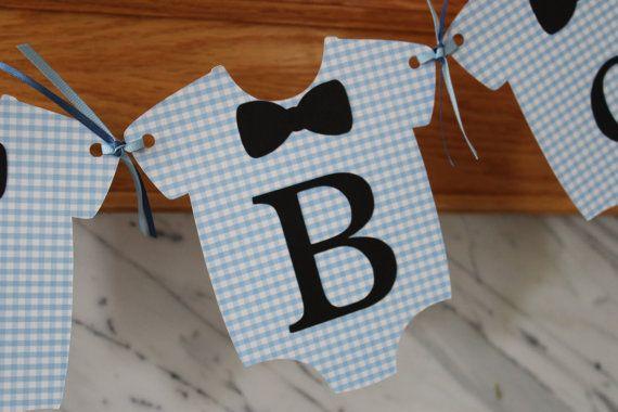 Mustahce Or Bow Tie Onesie Quot Baby Boy Quot Shower Banner Tie