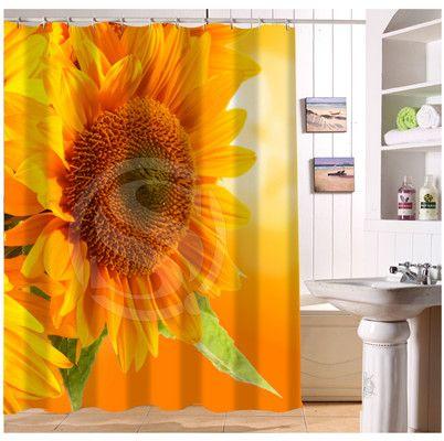 YY612f-222  New Custom flower yellow sunflowers nature #1 Modern Shower Curtain bathroom Waterproof  lJ-w$222 #Affiliate