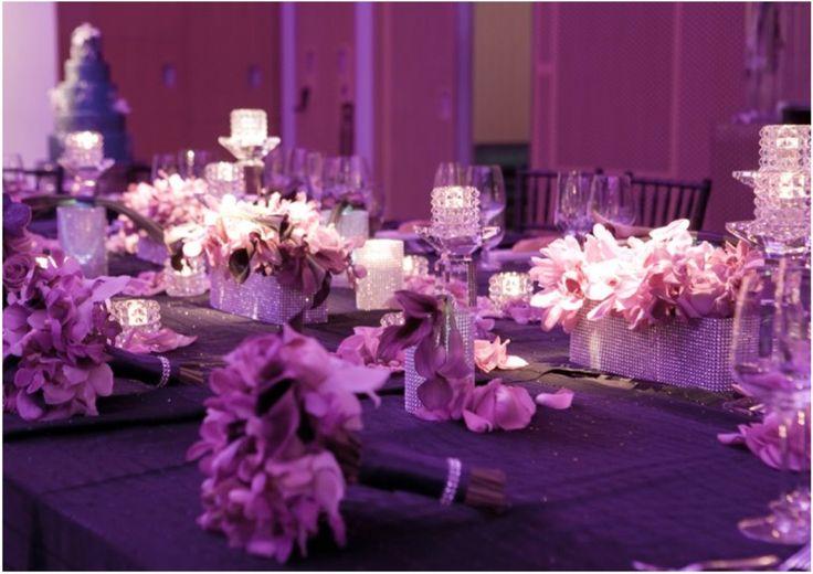 Purple #Wedding #Centerpiece. To see more wedding ideas: www.modwedding.com