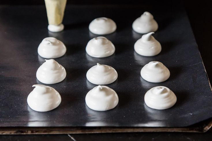 This is one of the handiest things I have ever found on the internet. Meringues are super easy to make, and super tasty with little chocolate bits in them. KD