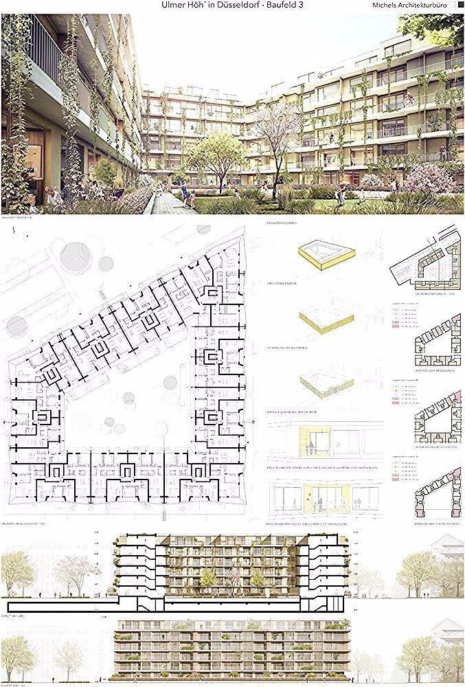Entwurf Fur Einen Neubau Mit 170 Wohneinheiten Und Tiefgarage Layout Der Einre In 2020 Landschaftsarchitektur Zeichnung Wohneinheit Neubau