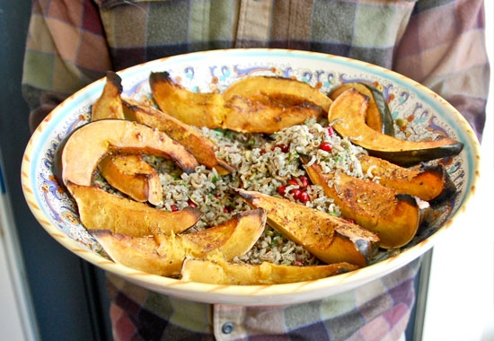 Roasted Acorn Squash with Wild Rice: Clean Eating Recipes, Books Clean, Roasted Acorn, Rice Food, Wild Rice, Years Clean, Roasted Squash, Acorn Squash, Goop Clean