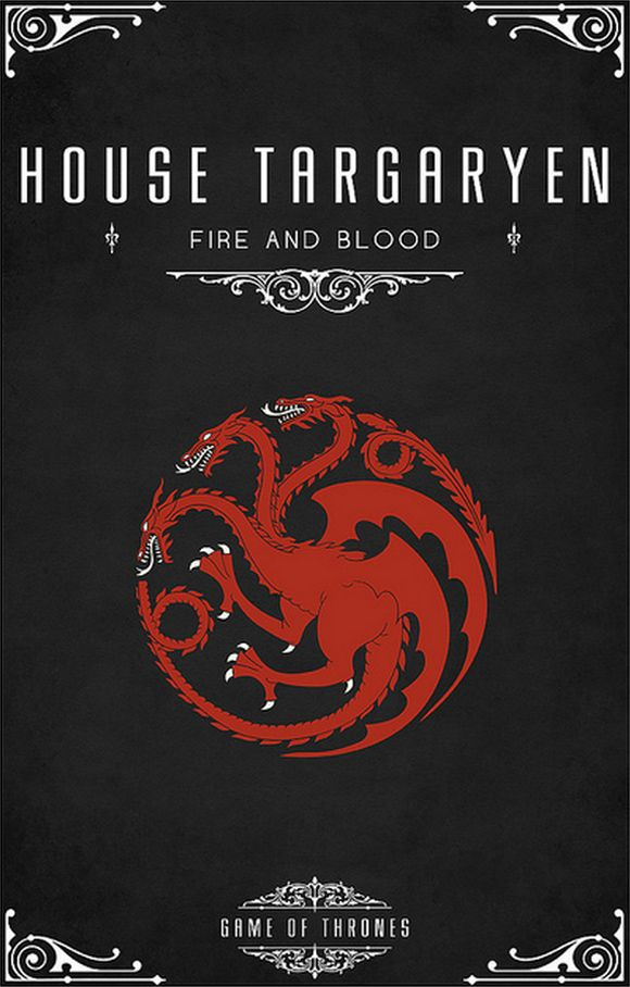 20 game of thrones house posters by thomas gateley house targaryen awesomerobo pinterest. Black Bedroom Furniture Sets. Home Design Ideas