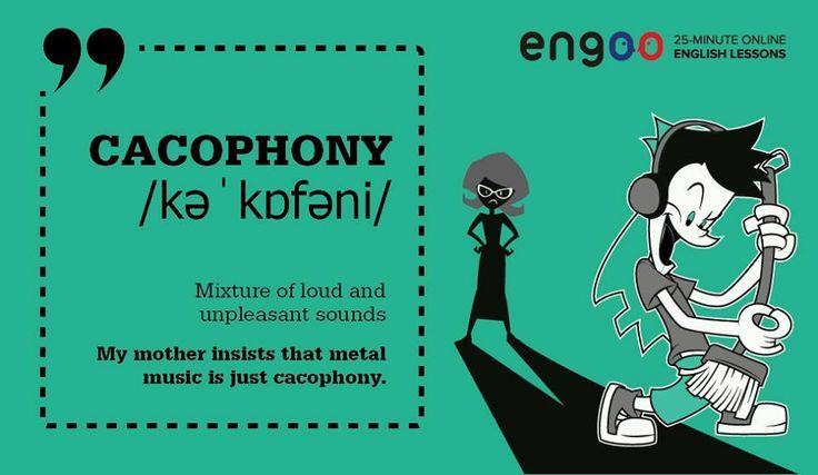 """Слово сегодняшнего дня """"cacophony"""" - какофония."""