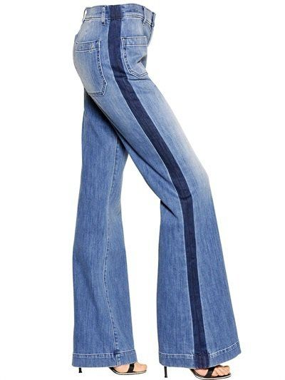 Pin for Later: The 7 Biggest Denim Trends For Fall  Seafarer Tuxedo Stripe Flare Jeans ($334)