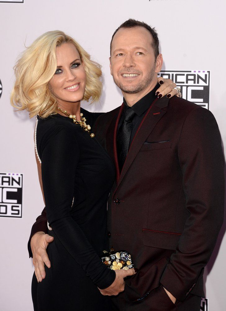 Pin for Later: See All the Sexy Stars on the AMAs Red Carpet! Jenny McCarthy and Donnie Wahlberg
