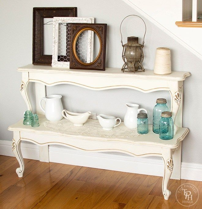Entryway Table From Repurposed Coffee Table