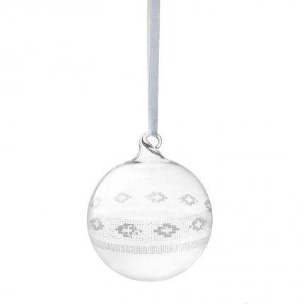 Boule de Noël transparente en verre de la collection Sarjaton de iittala