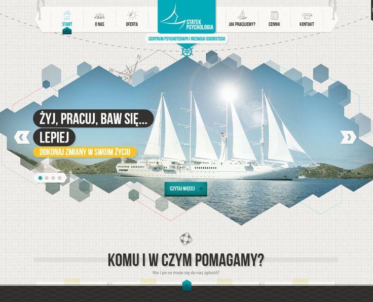 Statek Psychologia site design #UX