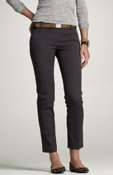 [SOLD] JCrew Minnie Pant in Stretch Twill in Coal - 4 (NWT)