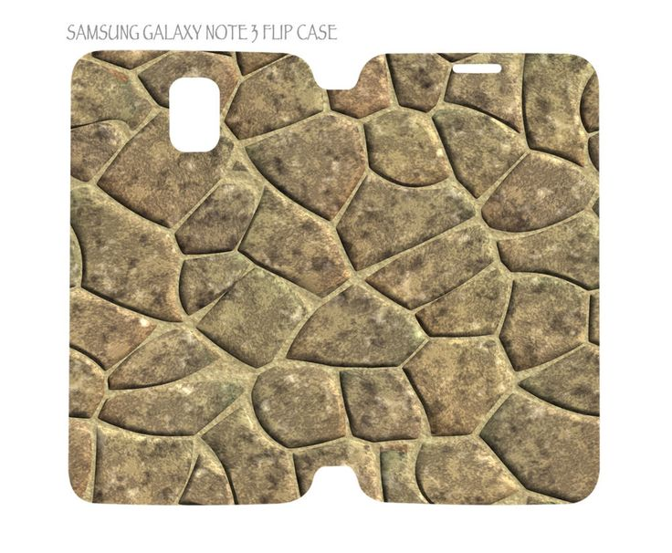 Samsung Galaxy Note 3 Flip Case Folio Cover Nature Stone Pattern #01 #QuinnCafe
