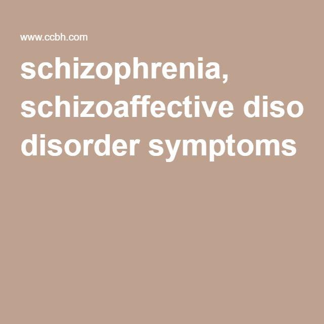 schizophrenia, schizoaffective disorder symptoms