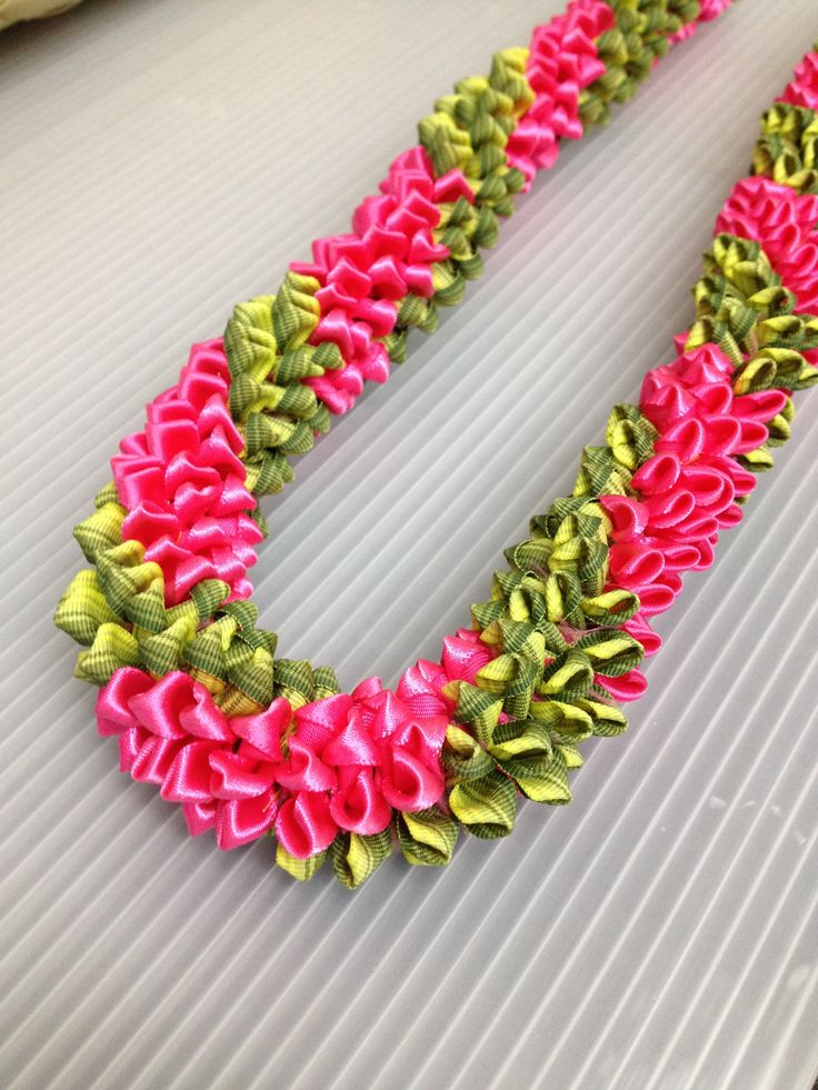 Chain of love  (Ribbon Lei) designed by Tracy Harada Ui'mauamau