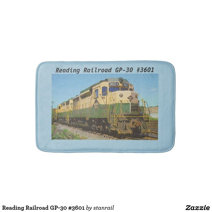 Reading Railroad GP-30 #3601 Bath Mats