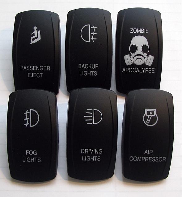 switches para el carro... necesito el de Zombie Apocalipse y el de Passenger Eject gracias