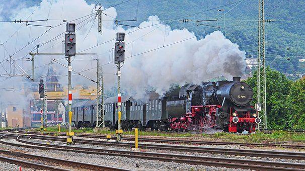 Comboio A Vapor, Locomotiva A Vapor