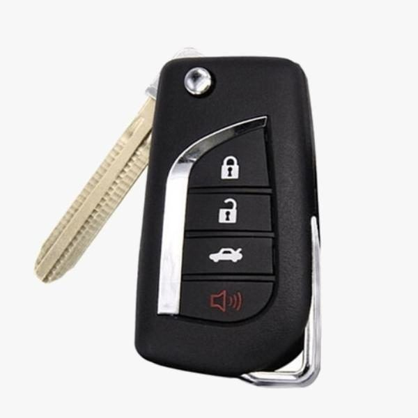 Silicone Rubber 4 Button Flip Key Fob Cover Remote Case Jacket Toyota Camry 2018 Newer Camry Key Fob Key