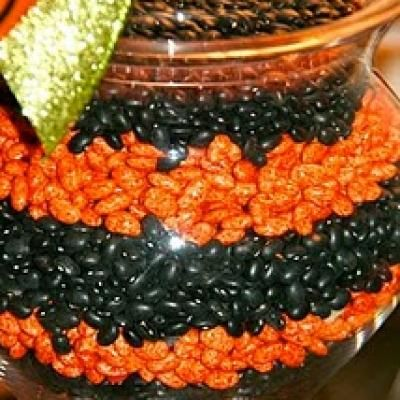 jelly beans decorating on a budget change the color for the holiday decorations. Black Bedroom Furniture Sets. Home Design Ideas