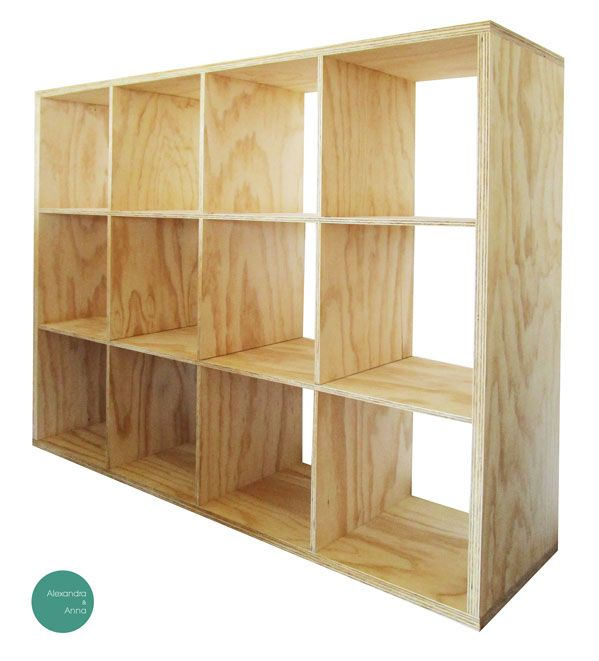 Estante modular modelo 001 148x112x40cm materialidad for Muebles salon modulares madera