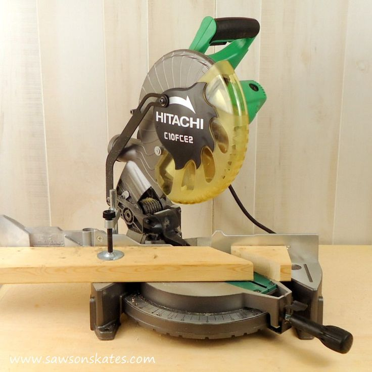 hitachi miter saw 45 degree cut 2