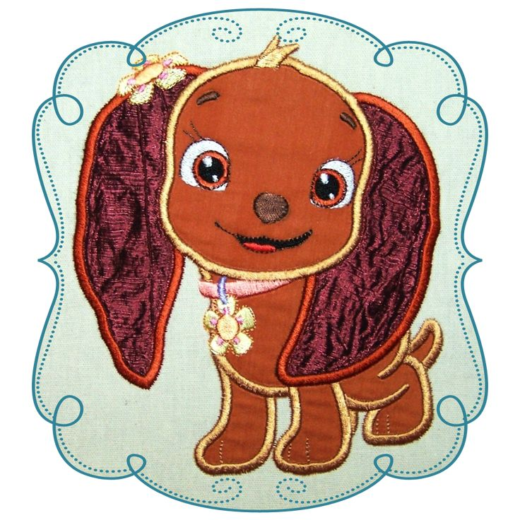 Strawberry Shortcake Dog Applique Machine Embroidery Design Pattern-INSTANT DOWNLOAD