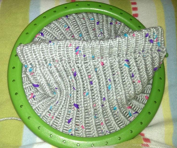 Loom knit www.knitpl.com obręcz dziewiarska czapka
