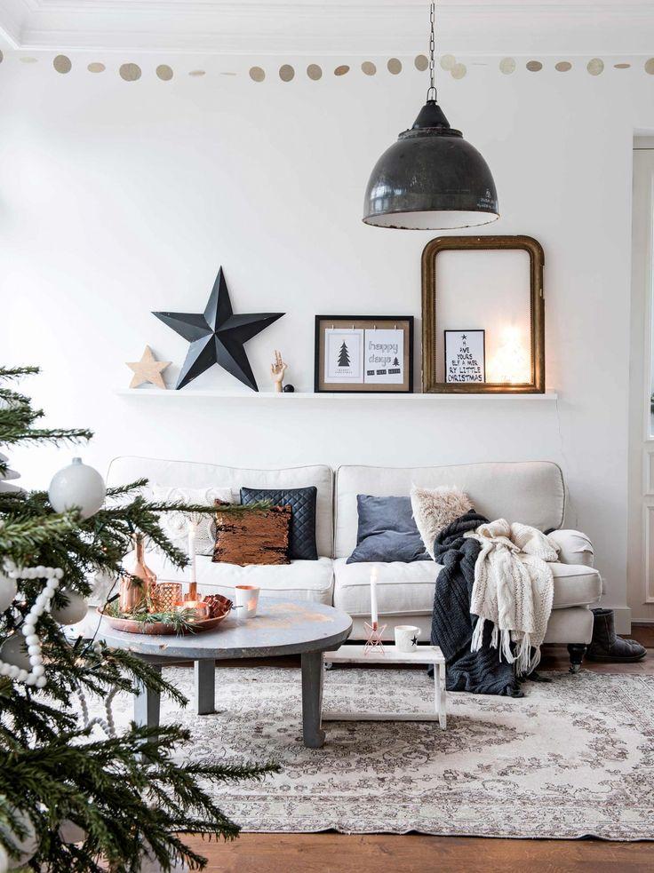 Un salon cosy pour les fêtes