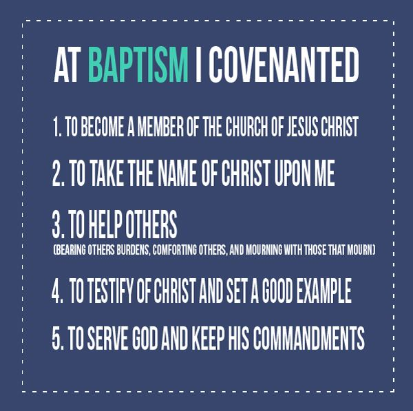 All Things Bright and Beautiful, Baptismal covenants: At baptism I covenanted and when I keep my covenants...