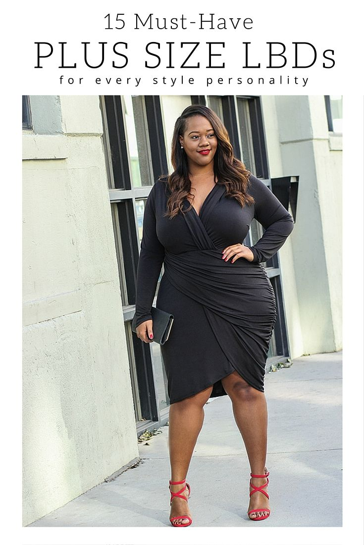 The Little Black Dress Roundup | 15 Must-Have Plus Size LBDs For Every Style Personality   Little Black Dress, Outfit Ideas, Special Occasion, Plus Size Dresses, Plus Size Cocktail Dresses