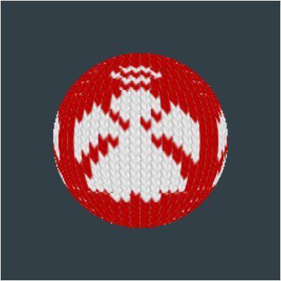 Julekule, knitting, pattern, ornament, Christmas, knitted Christmas ball, decoration, decorative, design, angel