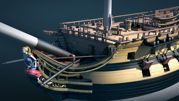 ArtStation - WIP. The seventy-four gun ship, Anastasia Fileva