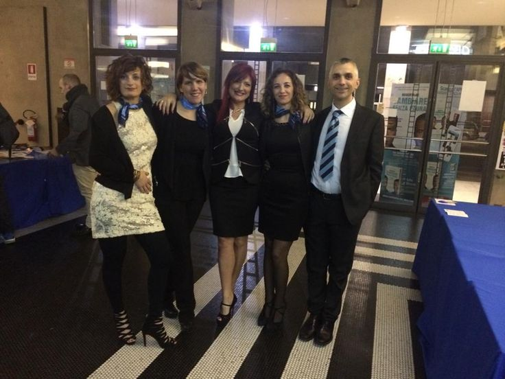 Io con i manager dei centri Fly del Triveneto