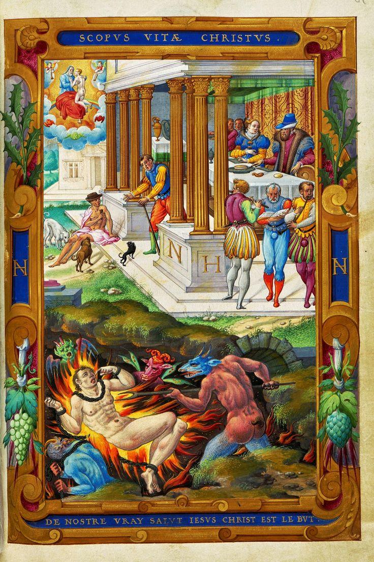 """Festin du Bon Riche from Nicolas Houël's """"Traité de la Charité Chréstienne"""" by Camillo Spanocchi, ca. 1580 (PD-art/old), Biblioteka Czartoryskich"""