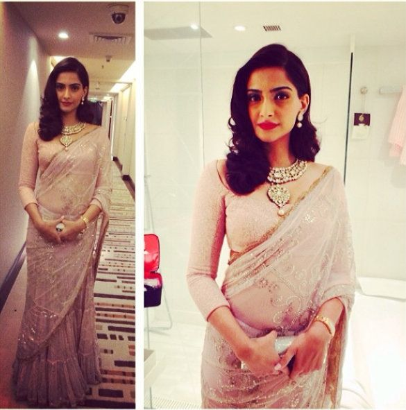 Sonam Kapoor in an Anamika Khanna Saree : Gorgeous !