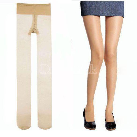 Nové Sexy ženy 5D barva kůže ultratenkou Pantihose punčocháče hedvábné punčochy nohy punčocháče ponožky