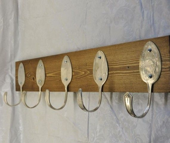 Create a unique space to hang your belongings with your own spoons! diy