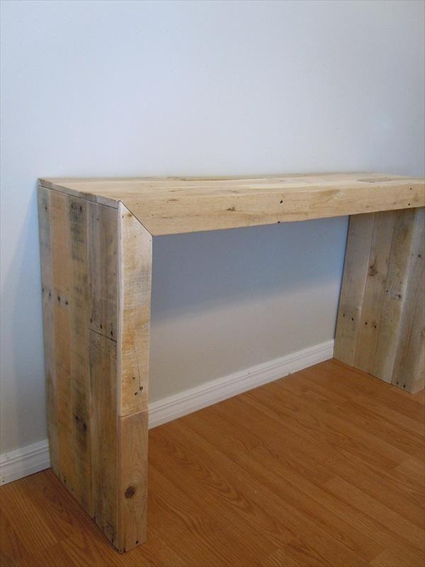 DIY Pallet Console Table   101 Pallets