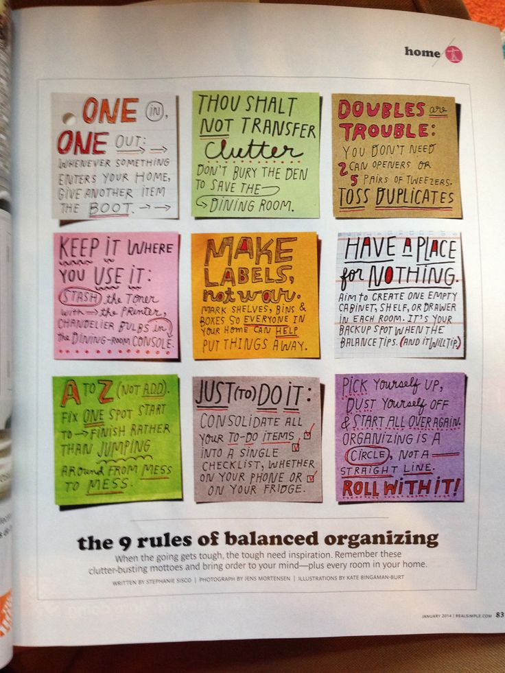 9 rules of balanced organizing | real simple